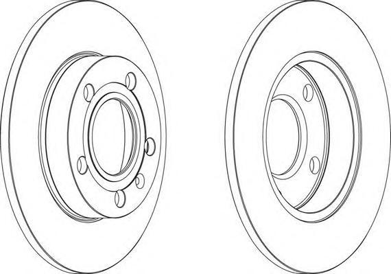 DDF1709 Диск тормозной AUDI A4 1.6-3.2 00- задний D=245мм.