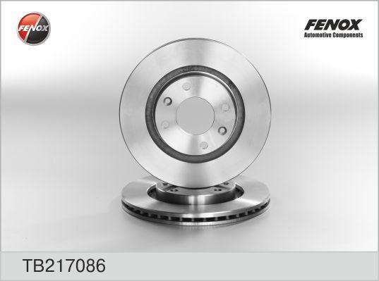TB217086 Диск тормозной CITROEN C3/C4/C5 03/BERLINGO 96/PEUGEOT 206/307/PARTNER пер.