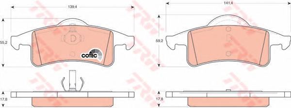 GDB4127 Колодки тормозные JEEP CHEROKEE 88-01/GRAND CHEROKEE 99-05 задние