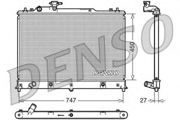 DRM44025 Радиатор MAZDA СХ-7 2.3T 07-