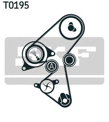 VKMA03316 Комплект ремня ГРМ FORD/CITROEN/PEUGEOT/VOLVO 1.5D/1.6D 09-