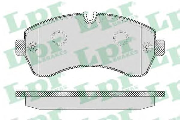 05P1295 Колодки тормозные MERCEDES-BENZ SPRINTER 06/CRAFTER (5т) 06 передние