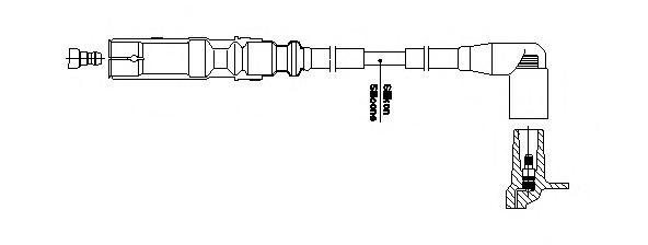 1a32f63 Провод зажигания к 1цилиндру VAG
