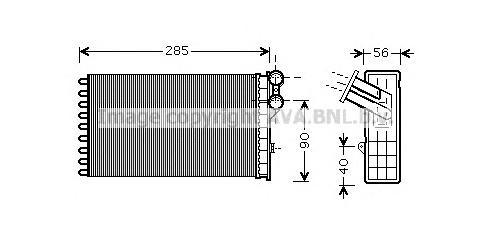 CNA6239 Радиатор отопителя CITROEN C4 / PEUGEOT 307 1.4-2.0/1.6D/2.0D 01-
