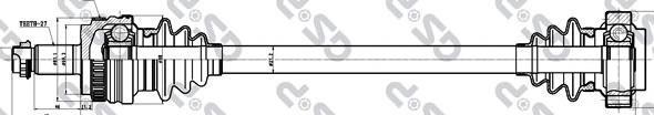 205034 Привод в сборе BMW 1 E87 1.8D 03-12 зад.лев. +ABS