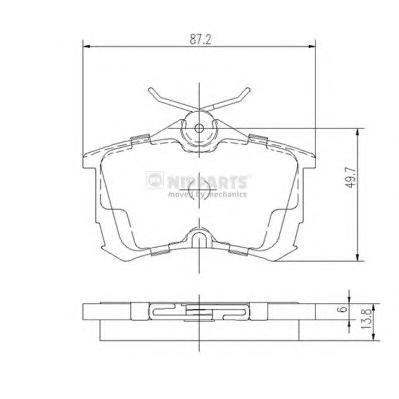 J3614015 Колодки тормозные HONDA ACCORD 2.0/2.2/2.4 98 задние