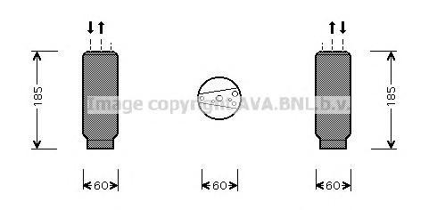 TOD005 Осушитель кондиционера LEXUS: LS (UCF20) 400 94-00 PORSCHE: 911 (991) 3.4 CARRERA/3.8 CARRERA S 11-, 911 (993) 3.6 CARRER