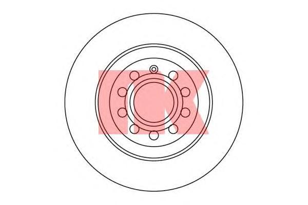 2047109 Диск тормозной задний / AUDI A-6 ( 12-300 ) 05/04~