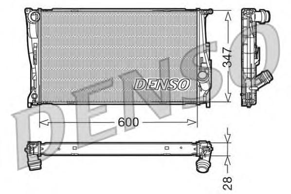 DRM05111 Радиатор BMW E81/E87/E90/F25 2.0-3.0/2.0D-3.0D 05-
