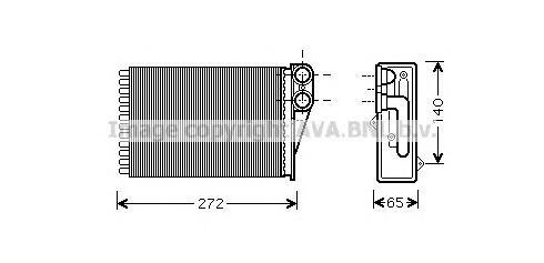 PEA6292 Радиатор отопителя PEUGEOT 207 1.4-1.6/1.4D-1.6D 06-