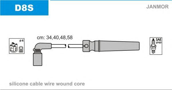 D8S Комплект проводов зажигания DAEWOO: NUBIRA 1.8 97-99