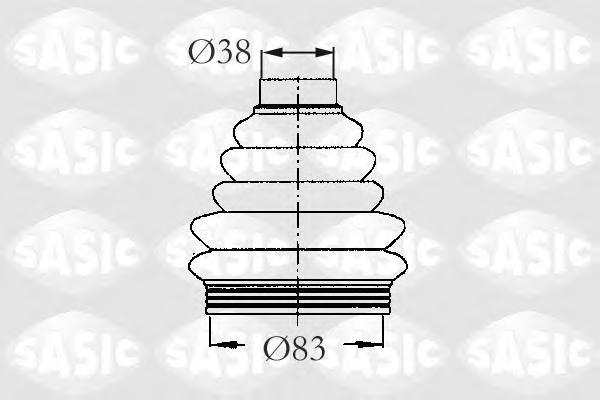 2933033 Пыльник ШРУСа CITROEN BERLINGO/PEUGEOT 205/306/405/PARTNER 1.4-1.9D 87-02 внутр.