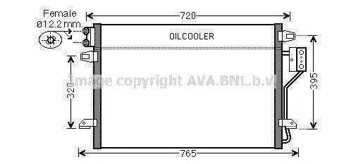 CR5106 Конденсер DODGE CARAVAN / CHRYSLER VOYAGER III 3.3-3.8/2.8D 08-