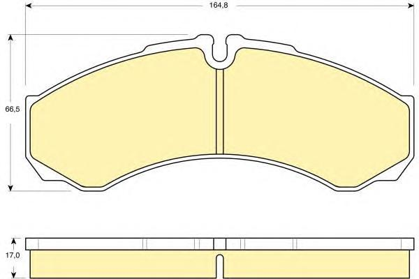 6115349 Колодки тормозные IVECO DAILY 99- передние