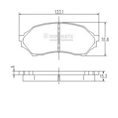 J3603047 Колодки тормозные MAZDA 323 1.4-1.5 98-04 передние