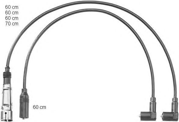 ZEF1149 Провода высоковольтные. комплект