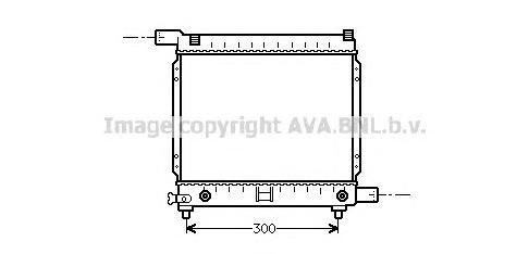 MS2064 Радиатор MB W201 1.8/2.0 A/T 82-94