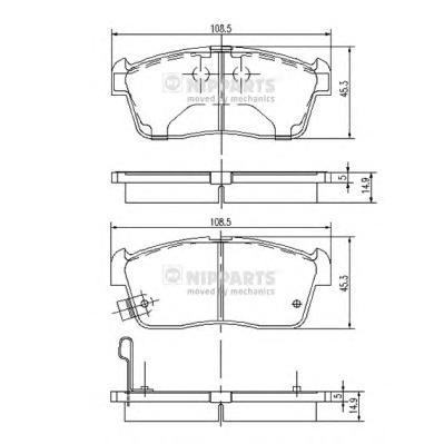 J3608021 Колодки тормозные SUZUKI IGNIS 00/ALTO 02 с индикат.износа передние