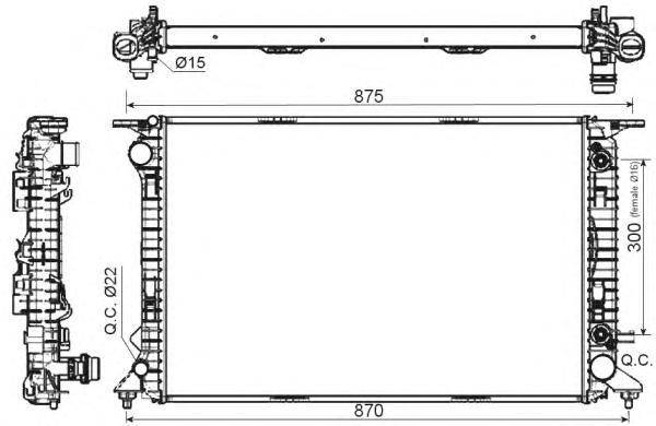 53116 Радиатор VAG Q5 3,0 АКПП