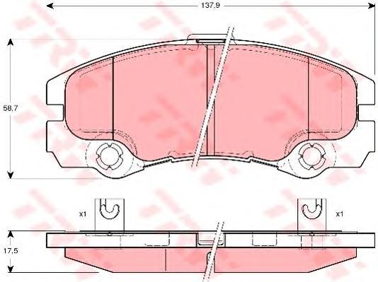 GDB1436 Колодки тормозные OPEL FRONTERA B 2.2/2.2D/3.2 98- передние