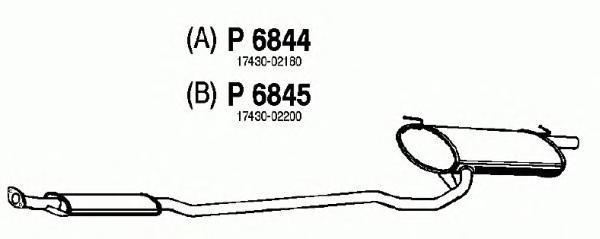 p6844 Глушитель выхлопных газов конечный