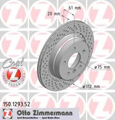 150129352 Тормозной диск