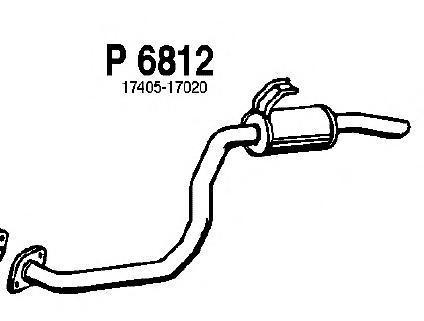 p6812 Глушитель выхлопных газов конечный