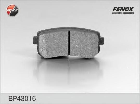 BP43016 Колодки тормозные KIA CEED/RIO/SPORTAGE/HYUNDAI ACCENT/i20/i30/ix35 задние