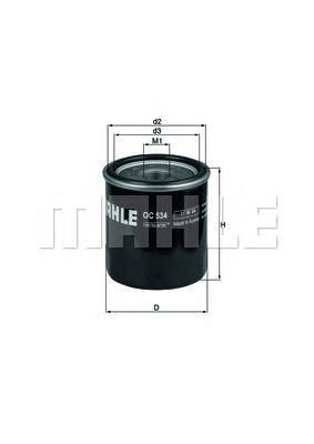 OC534 Фильтр масляный TOYOTA AVENSIS/COROLLA/CARINA/CAMRY/YARIS/RAV 4