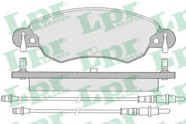 05P792 Колодки тормозные дисковые передн CITROEN: C5 01-04