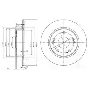 BG3964 Диск тормозной HONDA ACCORD 2.0-2.4 03- задний