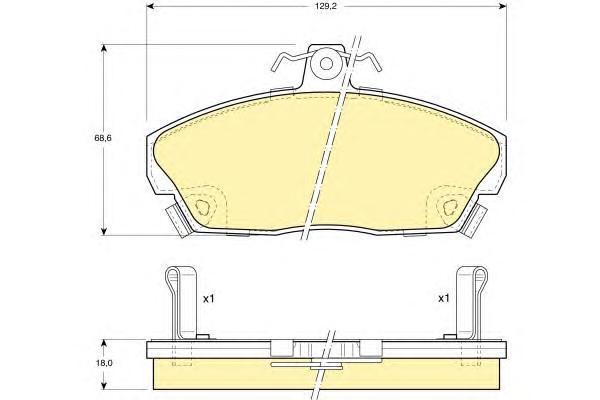 6104961 Колодки тормозные HONDA CIVIC 1.4-1.8 94-05 передние