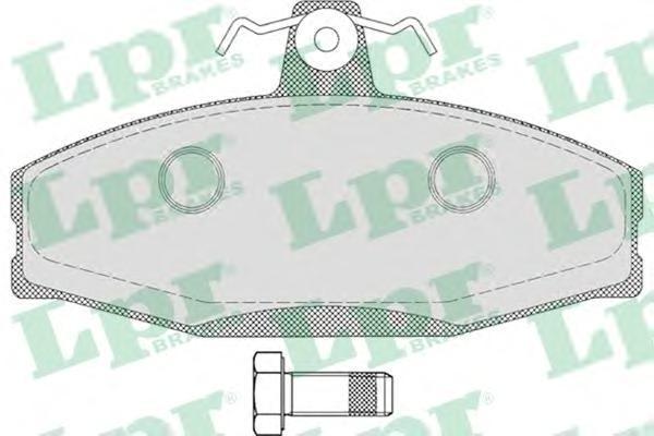 05P651 Колодки тормозные SKODA FELICIA 94-01 передние