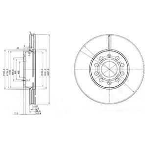 BG3833 Диск тормозной AUDI A3 04/VW CADDY 04/G5/TOURAN 03 передний вент.