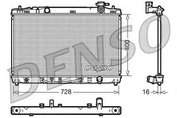 DRM50041 Радиатор TOYOTA CAMRY 2.4 A/T 06-11