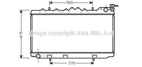 DN2094 Радиатор NISSAN PRIMERA 1.6/2.0 90-98