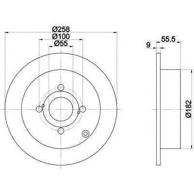 8DD355110471 Диск тормозной TOYOTA COROLLA (E12) 1.4-1.8 02- задний