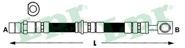 6T47396 Шланг тормозной OPEL VECTRA B М10х1/SW17х420mm пер.