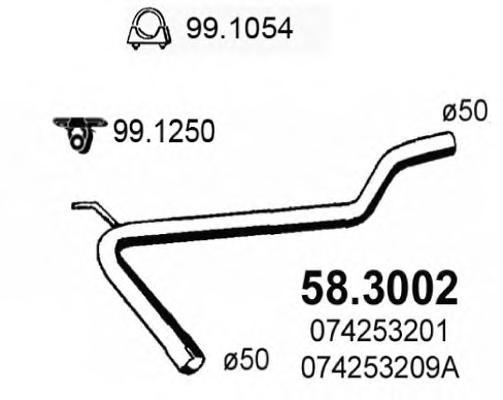 583002 Труба выхлопного газа