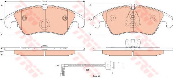 GDB1908 Колодки тормозные AUDI A6/ALLROAD/S6/A7 (1LA/1LJ) 10- передние