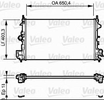 734981 Радиатор системы охлаждения FIAT: CROMA (194) 1.8 16V 05 -  OPEL: SIGNUM 1.8 03 - , VECTRA C 1.8/1.8 16V 02 - , VECTRA C