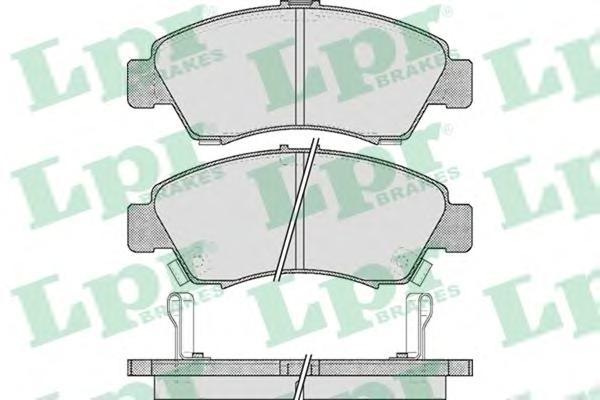 05P558 Колодки тормозные HONDA CIVIC 1.3-1.6 91-01/JAZZ 1.2/1.4 02- передние