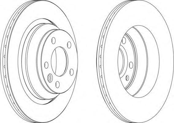 DDF1698 Диск тормозной VW TOUAREG 02-10/TRANSPORTER V 03-09 задний D=315мм.