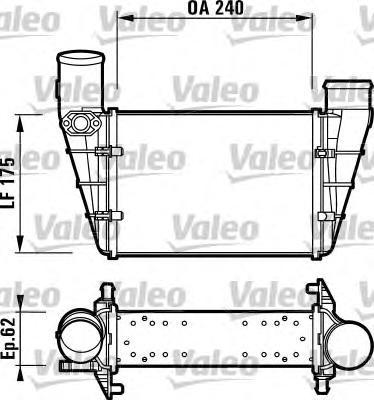 817625 Интеркулер AUDI: A4 (8D2, B5) 1.8 T/1.8 T quattro/1.9 TDI/1.9 TDI quattro/2.8/2.8 quattro 95-00, A4 Avant (8D5, B5) 1.8 T