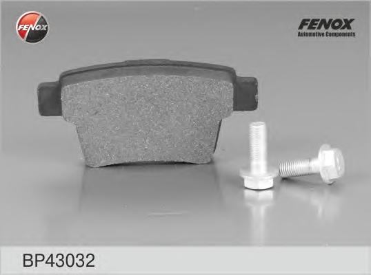 BP43032 Колодки тормозные FORD MONDEO III 09.04-/JAGUAR X-TYPE задние