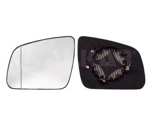 6471569 Стекло зеркала MERCEDES W204 07-левое с обогревом
