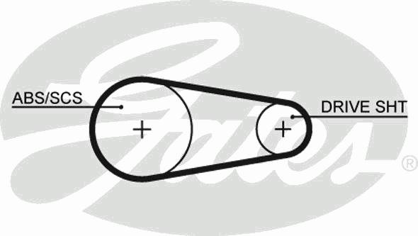 5204XS Ремень ГРМ FORD ESCORT 1.1-1.6 86-90 (122x9)