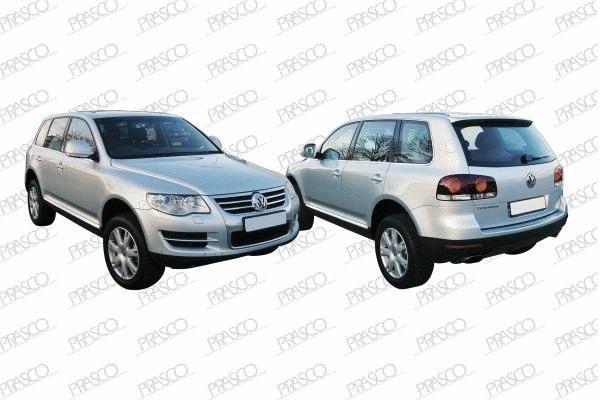VW8171243 Молдинг переднего бампера правый хромированный  / VW Touareg 07~10