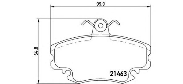 P68008 Колодки тормозные RENAULT LOGAN 04-/SANDERO 08-/CLIO 91- передние с датчиком