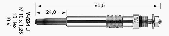 4520 Свеча накала D-Power 27 Y-524J